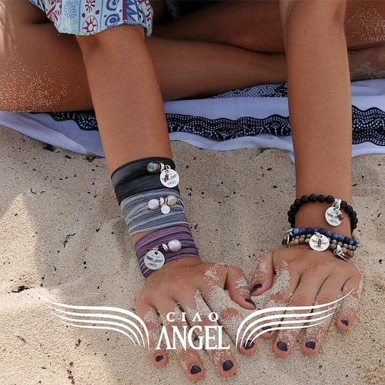 bracelet soie main sable web