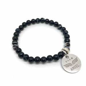 bracelet onyx web