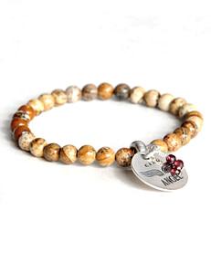 241 bracelet gemme jasper